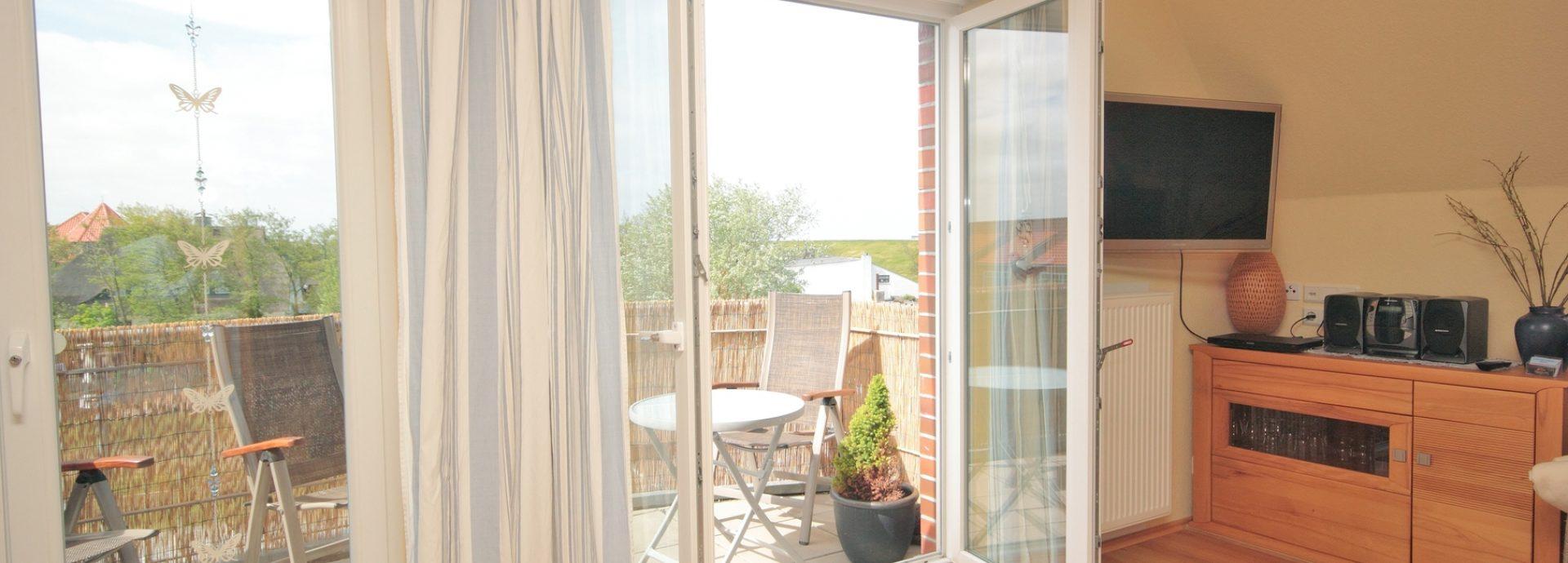 Balkon mit Blick auf die Nordsee